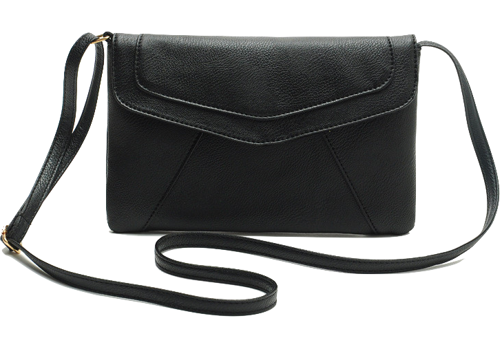 Black Leather Mini Crossbody