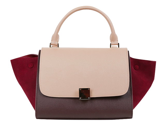Colour Block Leather Handbag