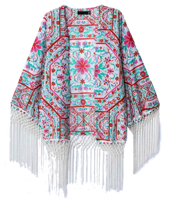 Floral-print-kimono-outerwear-with-fringes