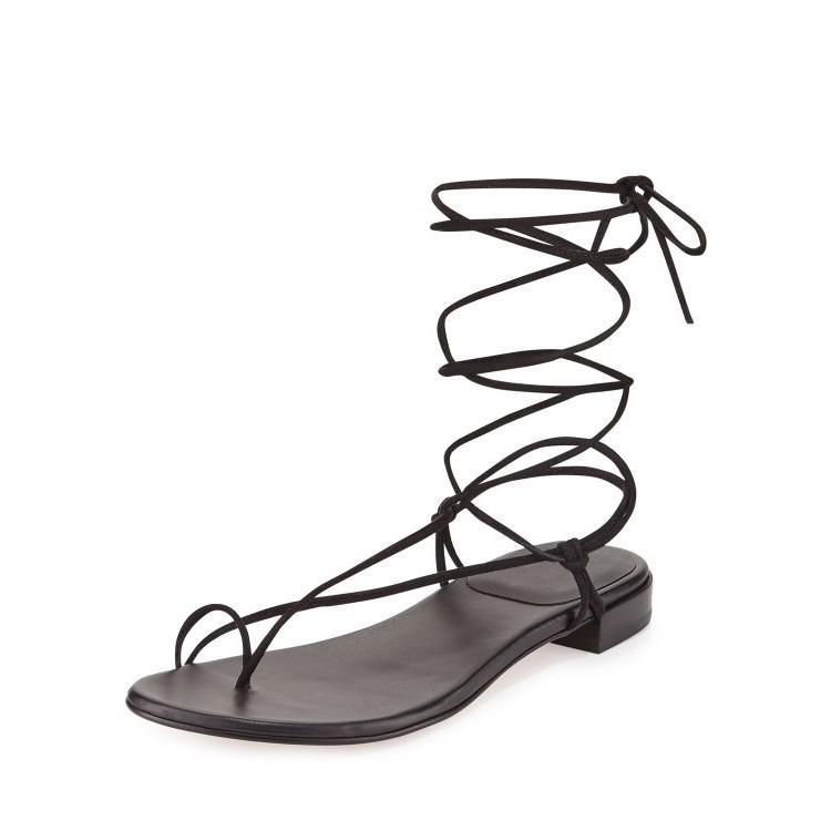 Lace-Up Flip Flops