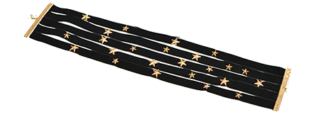 Multilayered Choker Necklace Featuring Stars Embellishment
