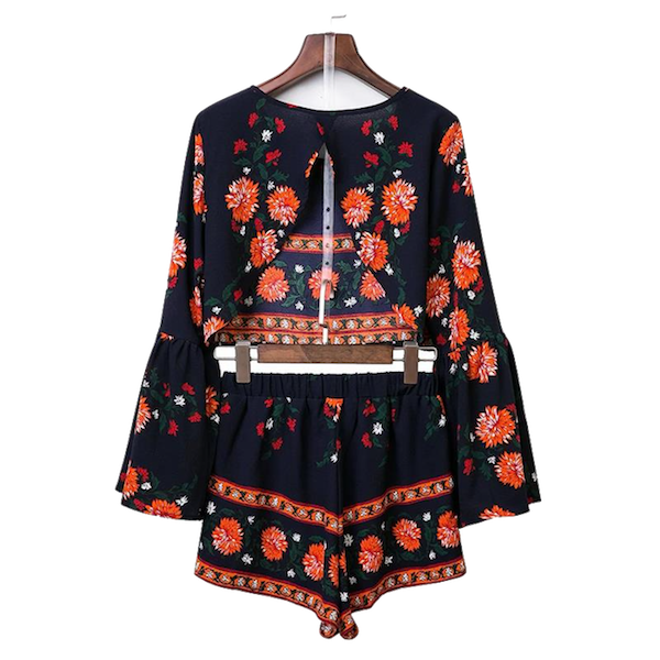 Floral-Boho-Print-Two-Piece-with-Bell-Sleeves