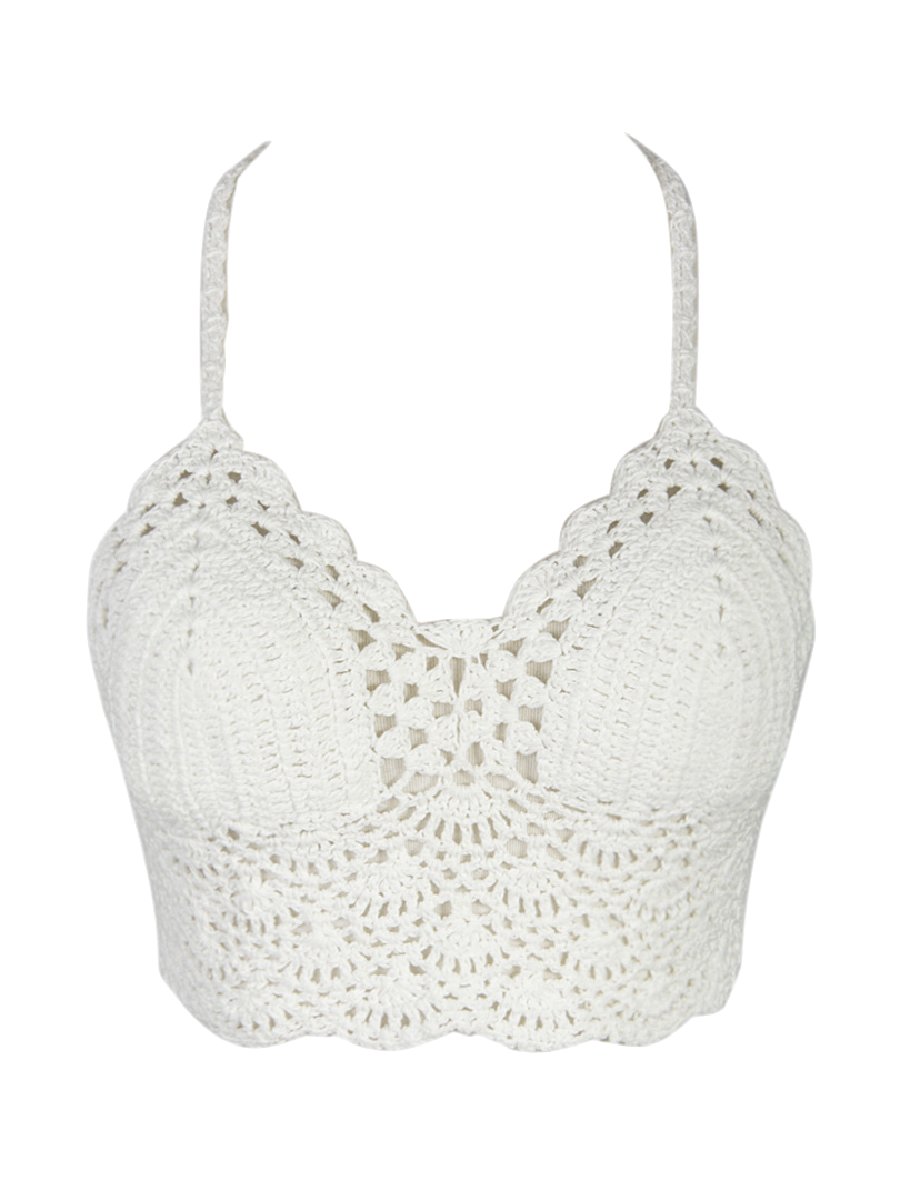 White Lace Crochet Top