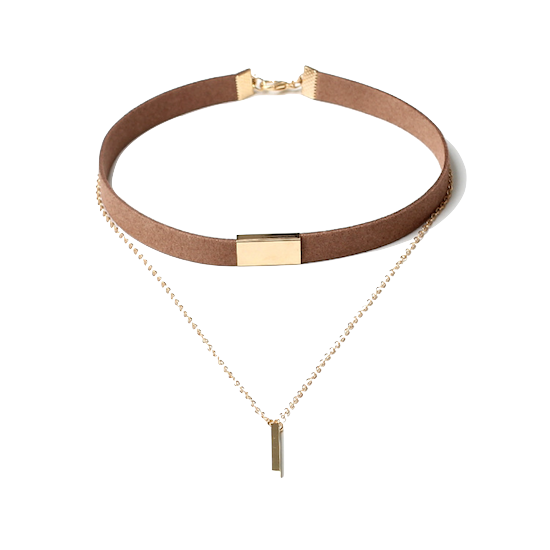 Gold-bar-layered-choker-necklace
