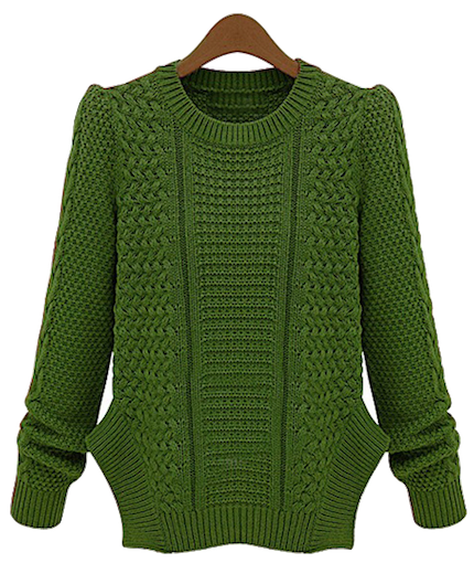 green-knitted-sweater