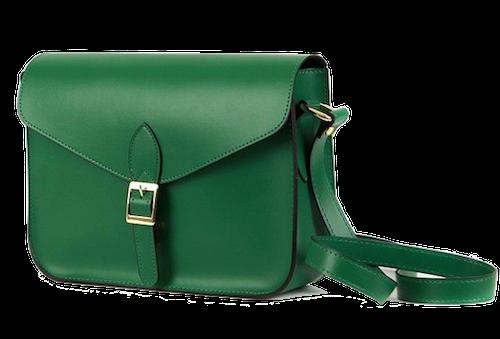 green-shoulder-messenger-bag