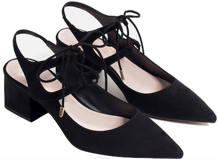 Lace-up-pointed-toe-chunky-heel