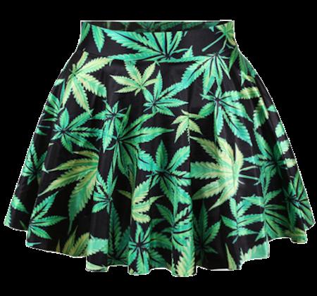 Leaves-print-min-skaters-skirt