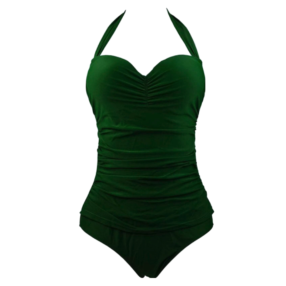 Halter Strap Ruched One-Piece Swimsuit