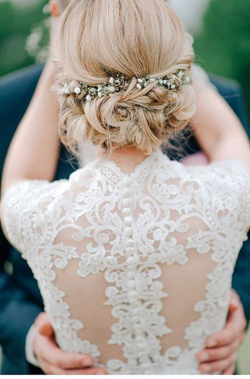 Wedding Updo Hairstyle Short Hair