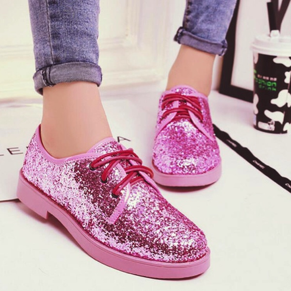 Sequins Oxford Shoes